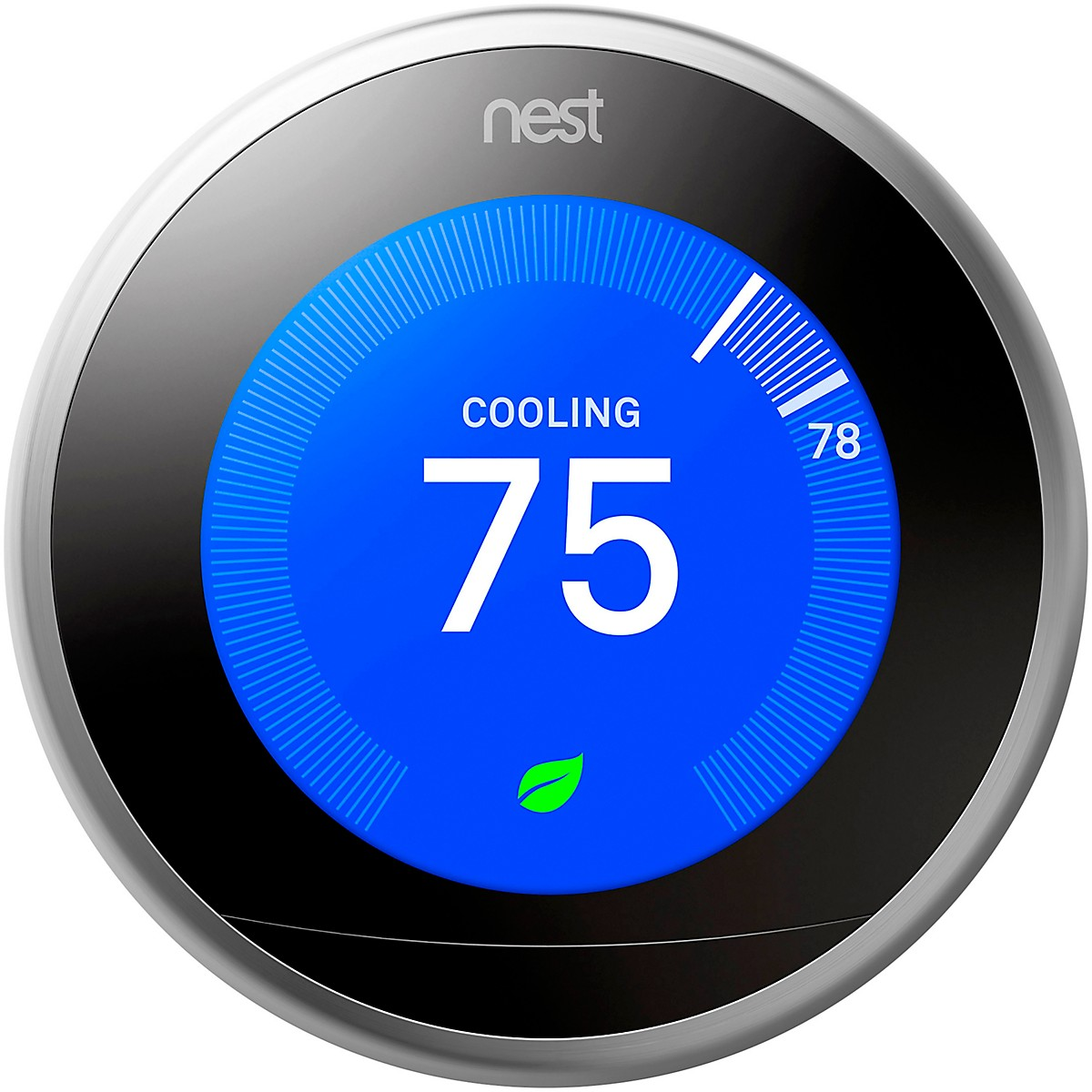 Nest Thermostat, Stainless Steel