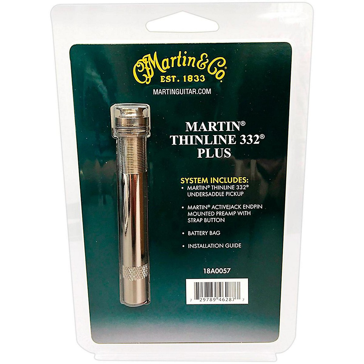 Martin Thinline 332 Plus Undersaddle Accoustic Guitar Pickup System