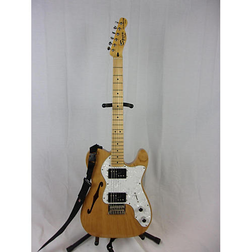 used squier thinline telecaster hollow body electric guitar natural guitar center. Black Bedroom Furniture Sets. Home Design Ideas