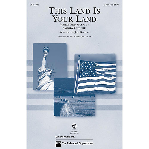 Hal Leonard This Land Is Your Land (Discovery Level 1) 2-Part arranged by Jill Gallina