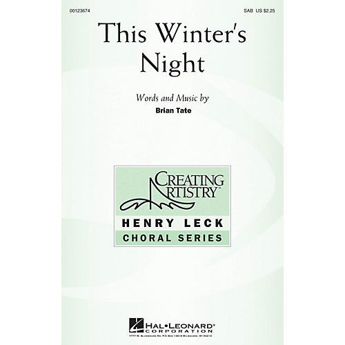 Hal Leonard This Winter's Night SAB composed by Brian Tate