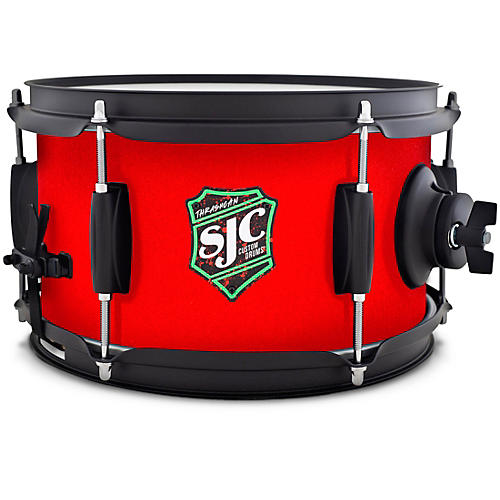 SJC Drums Thrash Can Side Snare With Red Grip Tape Wrap