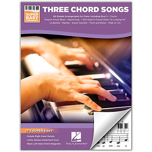 Hal Leonard Three Chord Songs Super Easy Songbook For Easy Piano