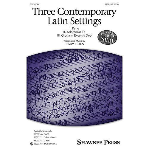 Shawnee Press Three Contemporary Latin Settings Studiotrax CD Composed by Jerry Estes