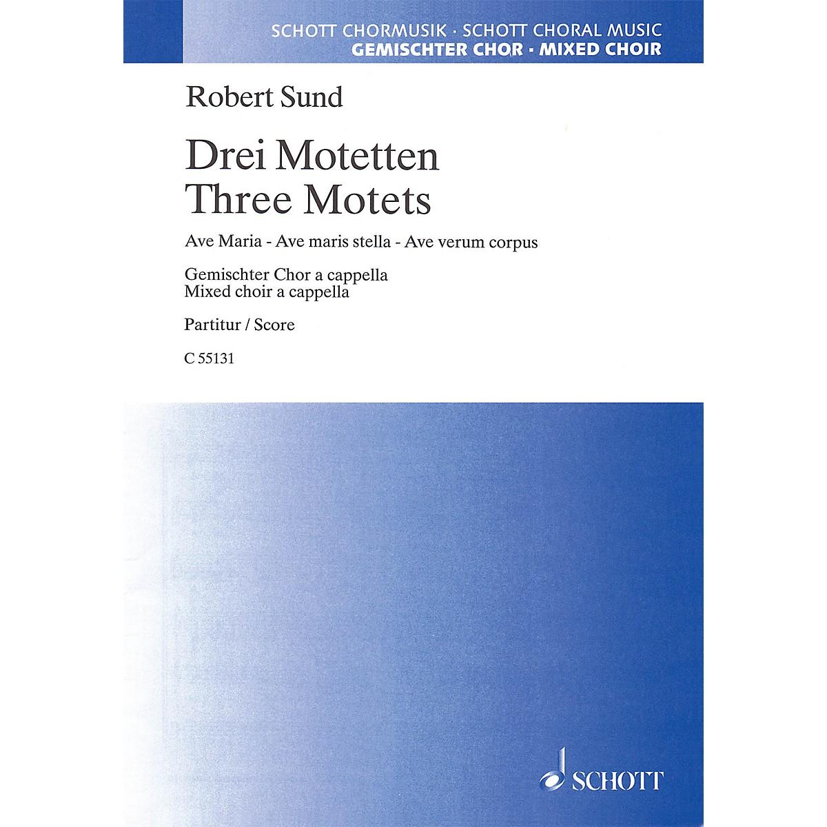 Schott Music Three Motets (SATB) SATB Composed by Robert Sund