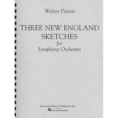Associated Three New England Sketches (Full Score) Study Score Series Composed by Walter Piston