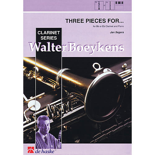 Hal Leonard Three Pieces For B Flat E Flat Clarinet And Piano 3 Pieces Concert Band