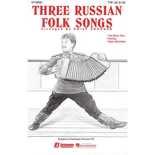 Hal Leonard Three Russian Folk Songs (Medley) TTB arranged by Emily Crocker