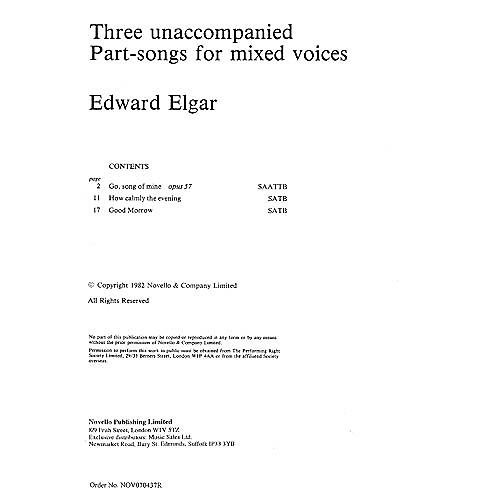 Novello Three Unaccompanied Part-Songs for Mixed Voices SATB