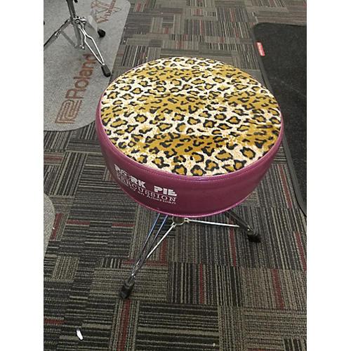 Pork Pie Throne Pink Leopard Drum Throne