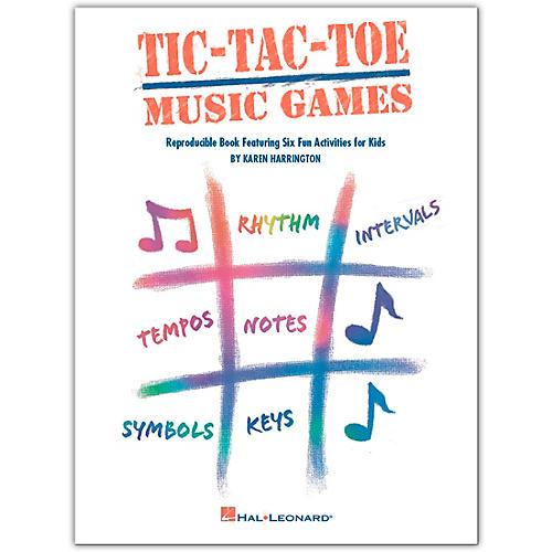 Hal Leonard Tic-Tac-Toe Music Games Reproducible Book Featuring Six Fun Activities For Kids by Harrington