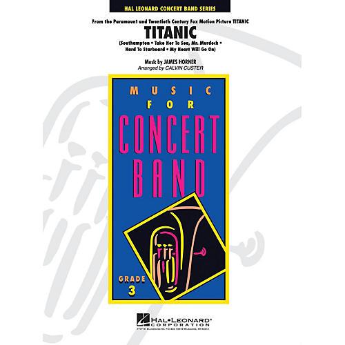 Hal Leonard Titanic Medley Movie Full Score Concert Band