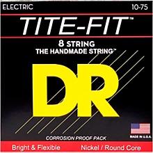 DR Strings Tite-Fit Nickel Plated Medium 8-String Electric Guitar Strings (10-75)