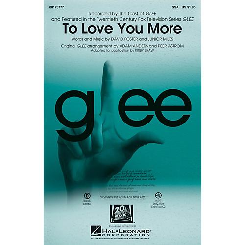 Hal Leonard To Love You More SSA