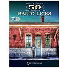 Centerstream Publishing Todd Taylor's 50 Most Requested Banjo Licks Book/Audio Online
