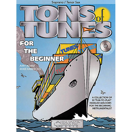 Curnow Music Tons of Tunes for the Beginner (Soprano/Tenor Saxophone - Grade 0.5 to 1) Concert Band Level .5 to 1