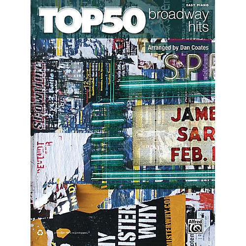 Alfred Top 50 Broadway Hits Easy Piano Book