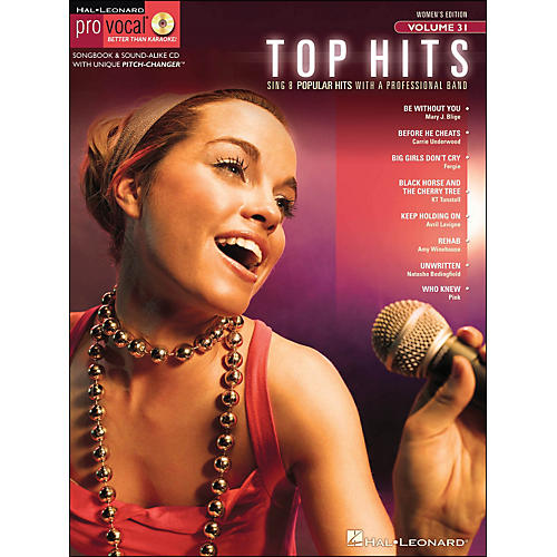 Hal Leonard Top Hits - Pro Vocal Series Volume 31 Book/CD Women's Edition