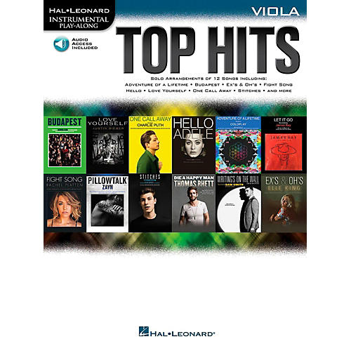 Hal Leonard Top Hits For Viola - Instrumental Play-Along