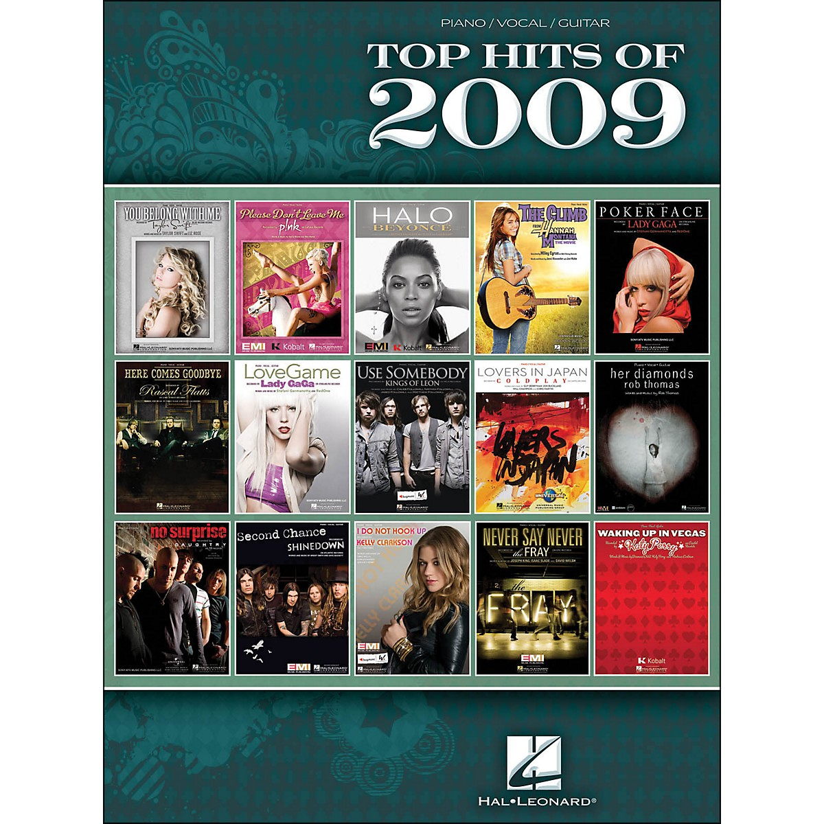 Hal Leonard Top Hits Of 2009 arranged for piano, vocal, and guitar (P/V/G)