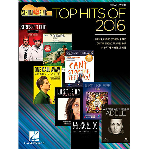 Hal Leonard Top Hits Of 2016 - Strum & Sing Guitar