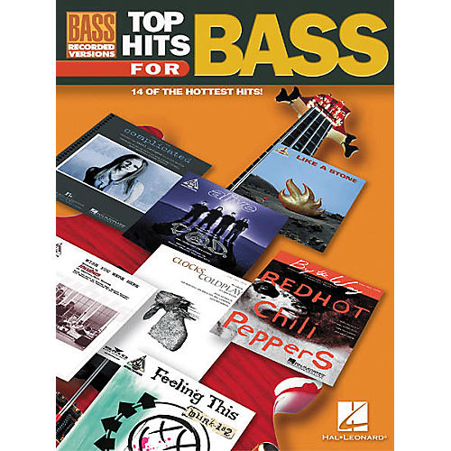 Hal Leonard Top Hits for Bass Tab Book
