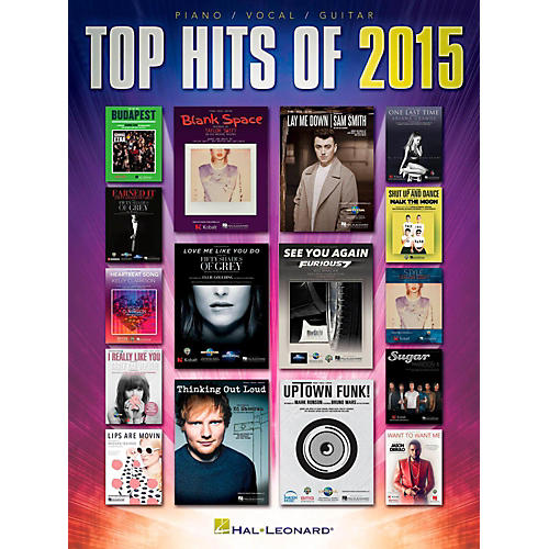 Hal Leonard Top Hits of 2015 for Piano/Vocal/Guitar