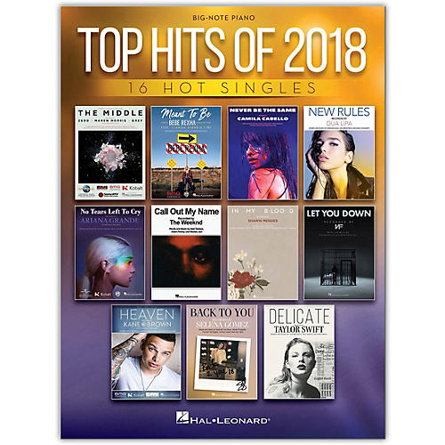 Hal Leonard Top Hits of 2018 Big Note Piano Songbook