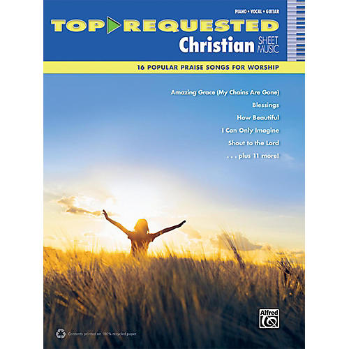 Alfred Top-Requested Christian Sheet Music PVC Book