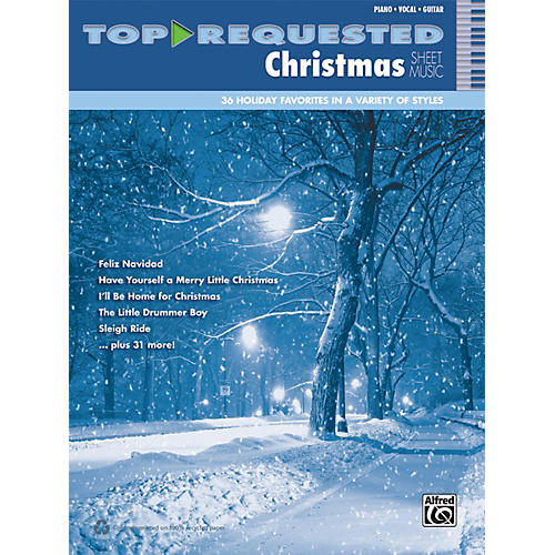Alfred Top-Requested Christmas Sheet Music PVC Book