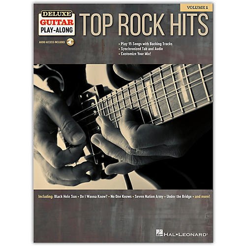 Hal Leonard Top Rock Hits Deluxe Guitar Play-Along Volume 1 Book/Audio Online