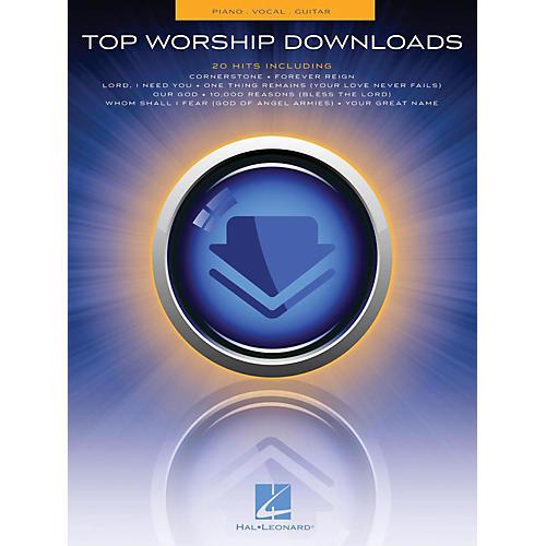Hal Leonard Top Worship Downloads Piano/Vocal/Guitar (PVG)