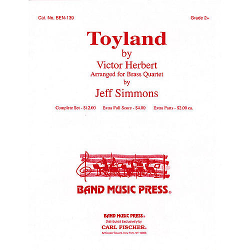 Band Music Press Toyland (for Brass Quartet) Concert Band Level 2 1/2 Arranged by Jeff Simmons