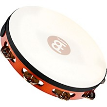 Traditional Goat-Skin Wood Tambourine Single Row Steel Jingles