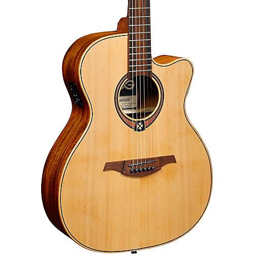 Lag Guitars Tramontane T170ACE Auditorium Cutaway Acoustic-Electric Guitar