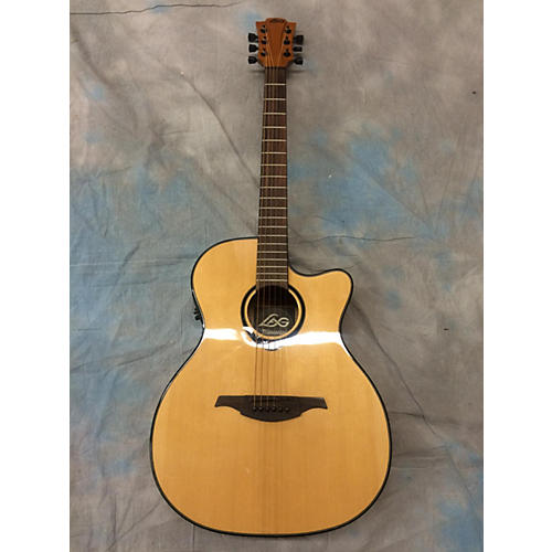 used lag guitars tramontane t66ace acoustic electric guitar guitar center. Black Bedroom Furniture Sets. Home Design Ideas