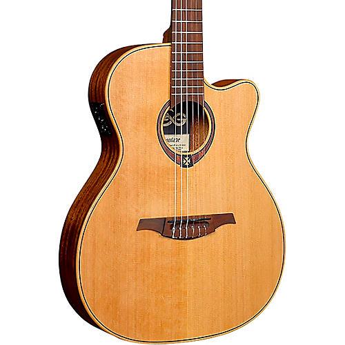 Lag Guitars Tramontane TN170ASCE Auditorium Cutaway Acoustic-Electric Classical Guitar