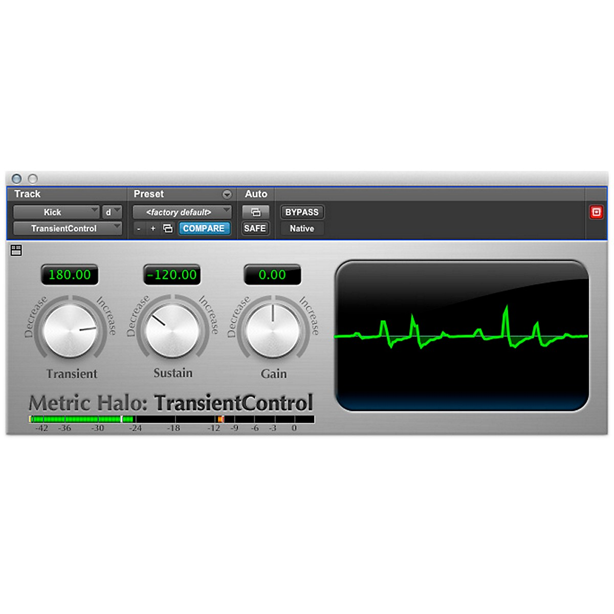 METRIC HALO TransientControl for Pro Tools AAX
