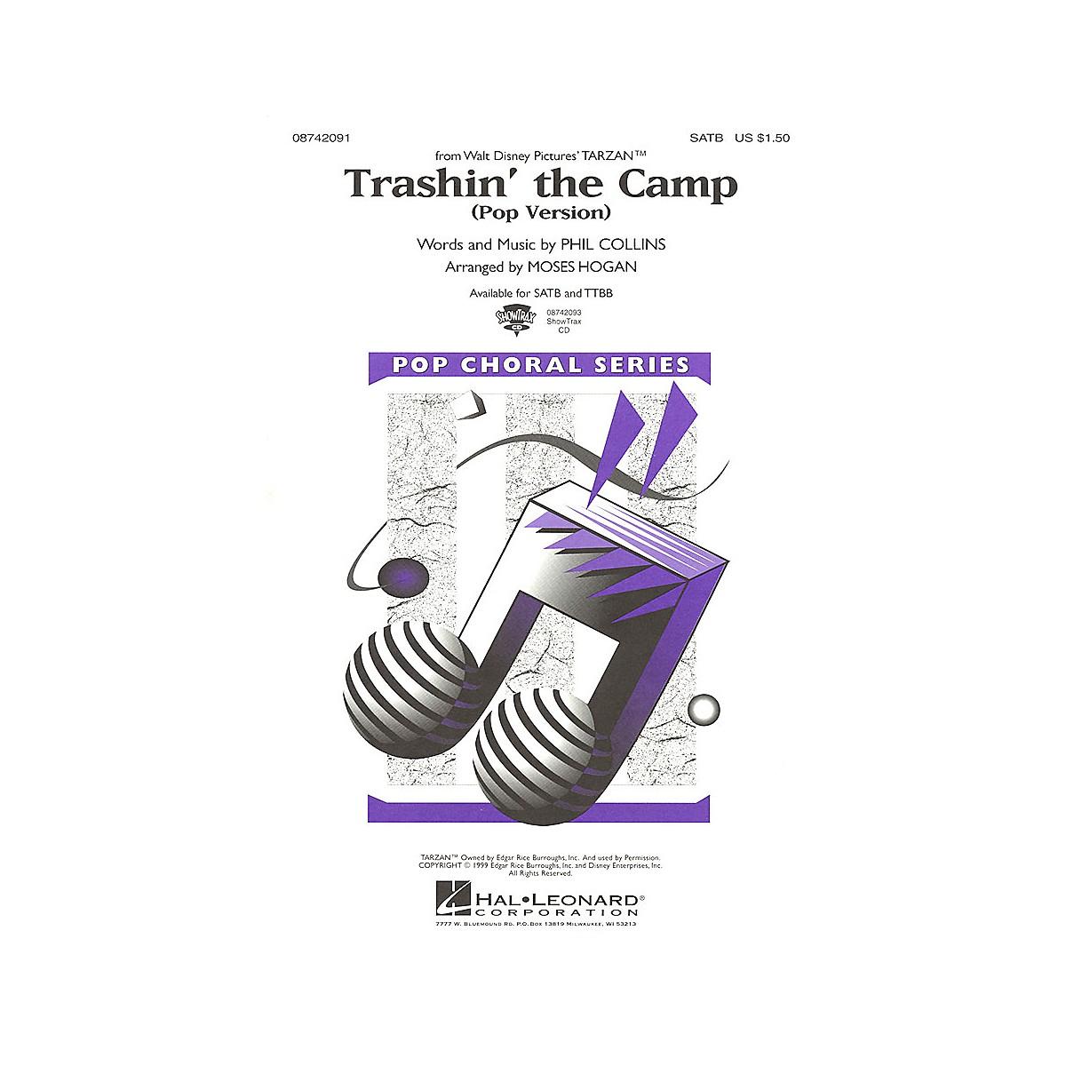 Hal Leonard Trashin' the Camp (Pop Version) (from Tarzan) SATB Divisi arranged by Moses Hogan