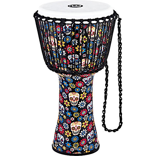 MEINL Travel Series Djembe with Synthetic Head in Day of the Dead Finish