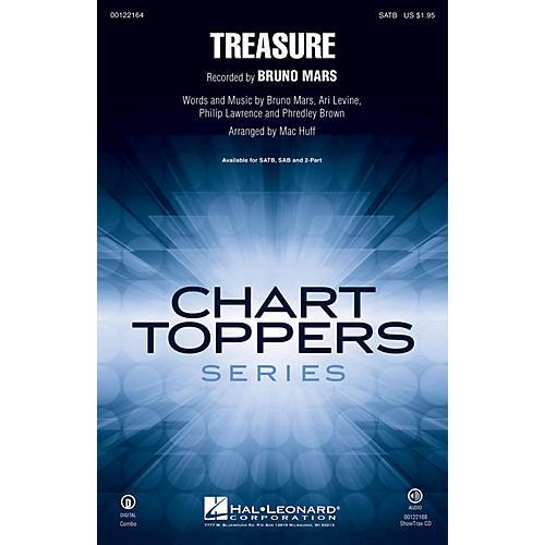 Hal Leonard Treasure SATB by Bruno Mars arranged by Mac Huff