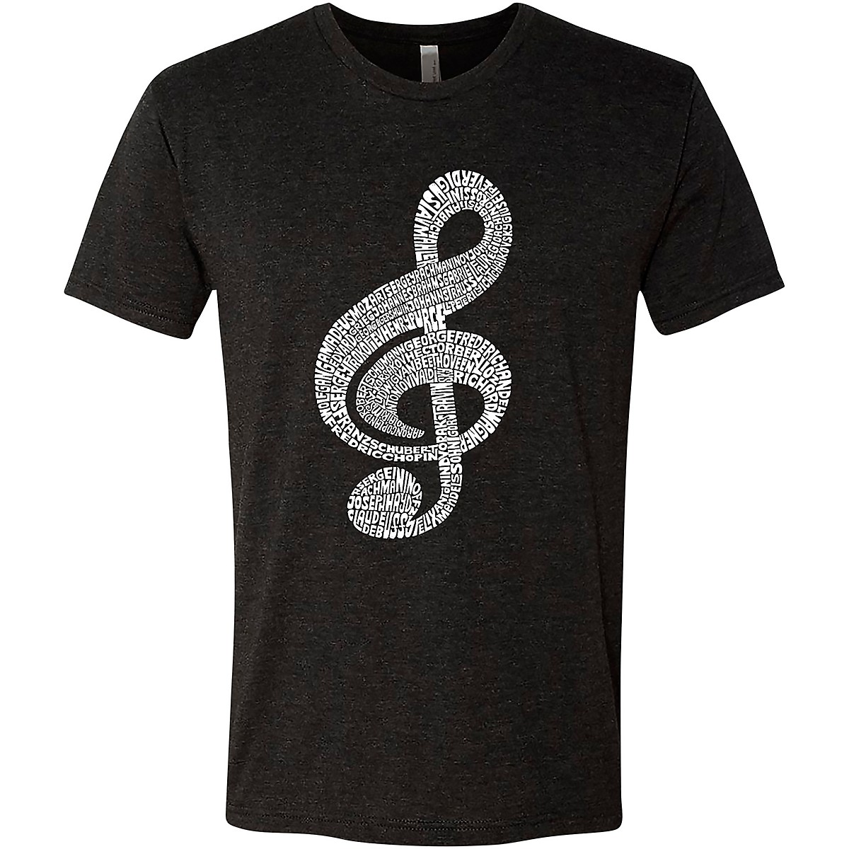 LA Pop Art Treble Clef Black T-Shirt
