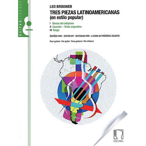 Max Eschig Tres Piezas Latinoamericas (En Estilo Popular) Editions Durand Series Softcover