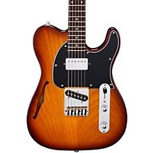 Tribute ASAT Classic Bluesboy Semi-Hollow Electric Guitar Tobacco Sunburst Rosewood Fretboard