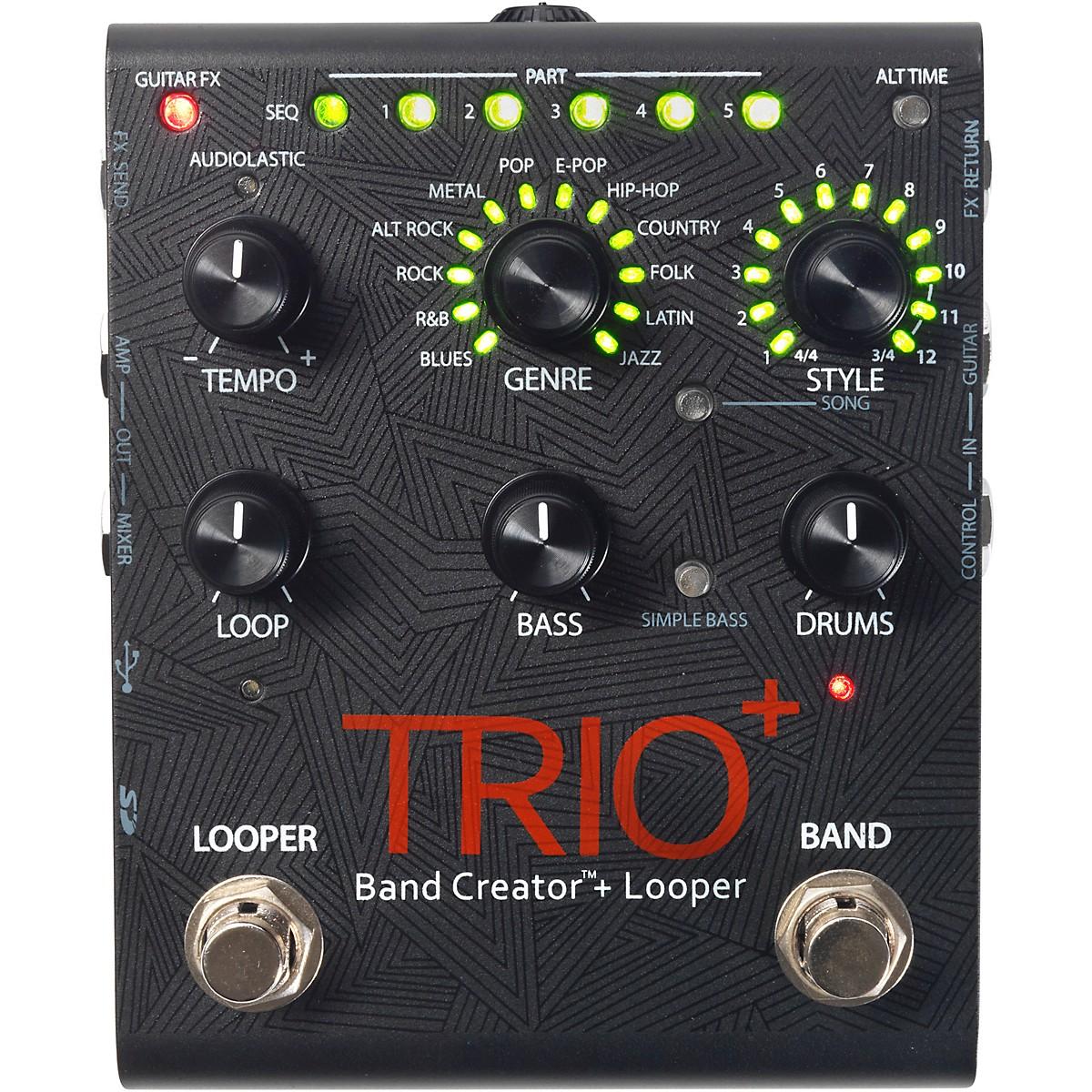 DigiTech Trio+ Band Creator Plus Looper Guitar Effects Pedal