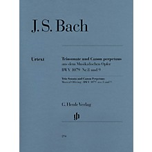 G. Henle Verlag Trio Sonata and Canon Perpetuus from the Musical Offering BWV 1079 Henle Music Softcover by Bach
