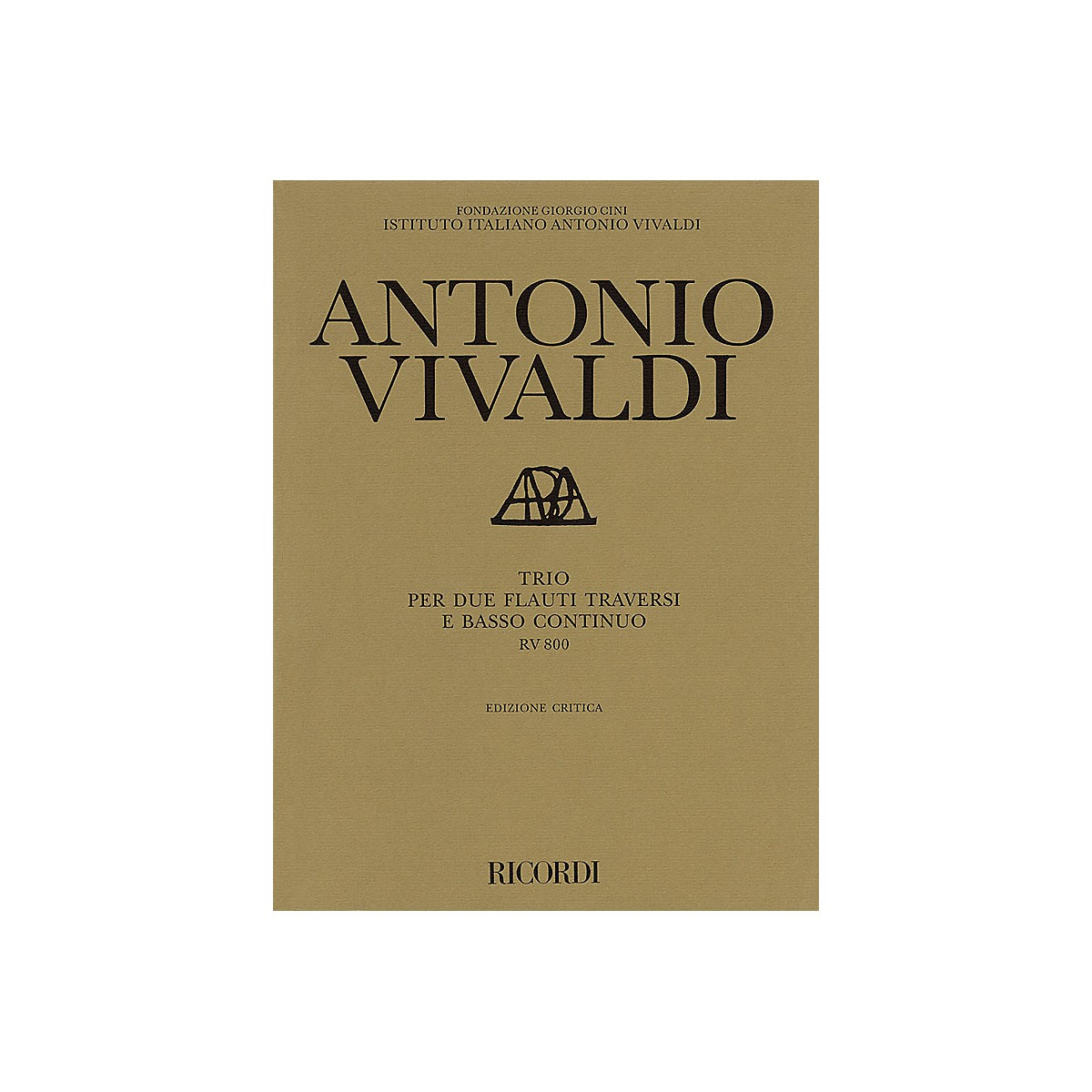 Ricordi Trio for 2 Transverse Flutes and Basso Continuo RV800 Ensemble Series by Antonio Vivaldi