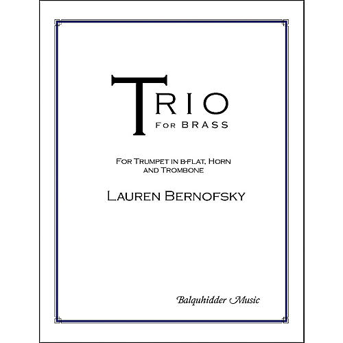 Carl Fischer Trio for Brass Book