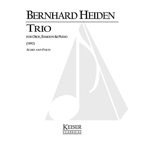 Lauren Keiser Music Publishing Trio for Oboe, Bassoon and Piano LKM Music Series Composed by Bernhard Heiden