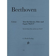 G. Henle Verlag Trio for Piano, Flute, and Bassoon, WoO 37 Henle Music Folios Series Softcover by Ludwig van Beethoven
